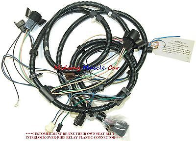 front end headlight lamp wiring harness 1974 74 Pontiac ...