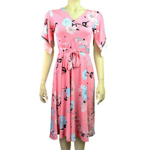 Ex-Debenhams-Rose-Floral-Robe-Patineuse-Tailles-8-22