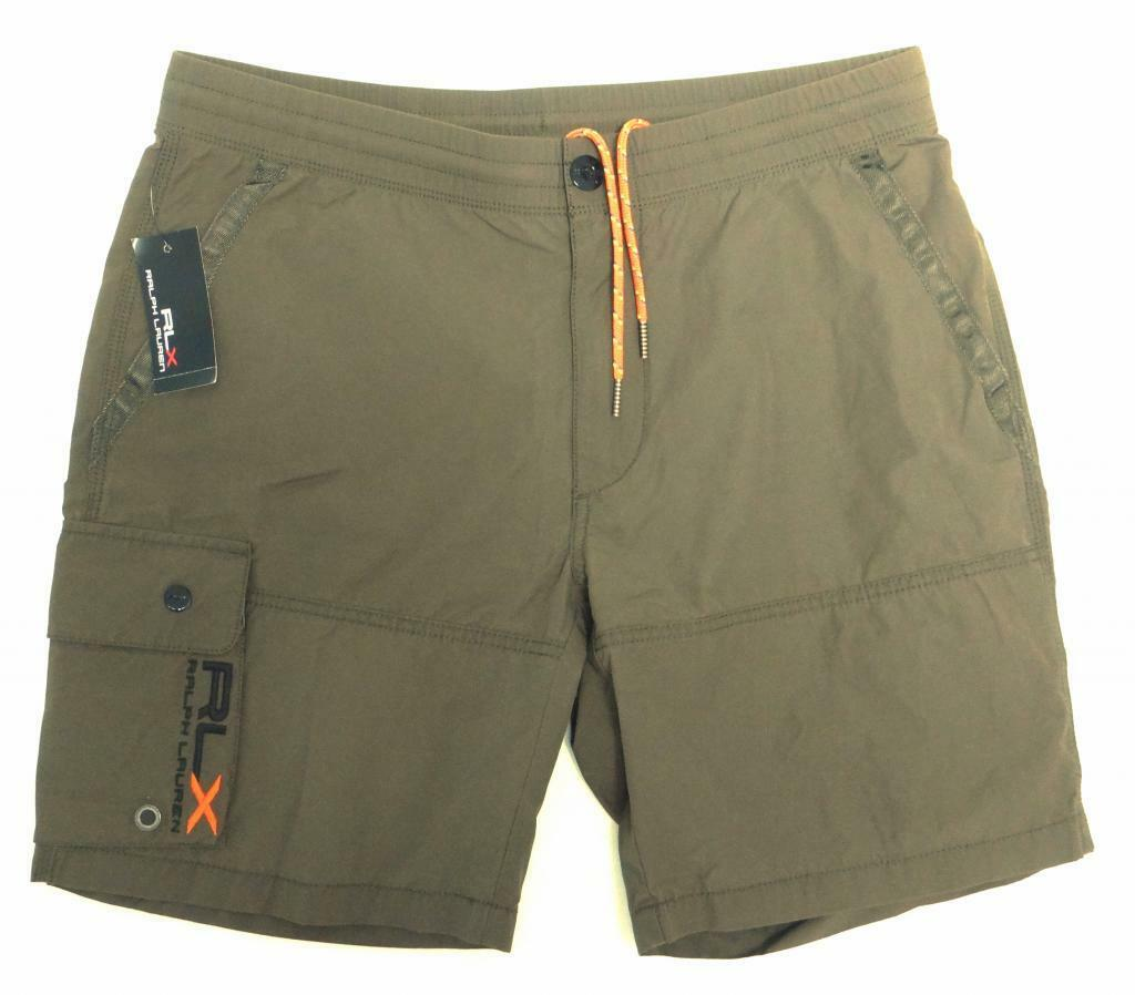 RLX Ralph Lauren Signature Green Shorts Swim Shorts Trunks Boardshorts Mens NWT