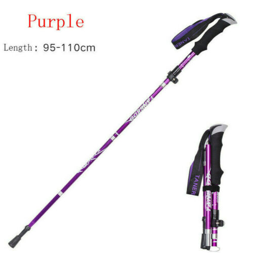Anti Shock Nordic Walking Sticks Telescopic Cane Hiking Trekking Poles Foldable