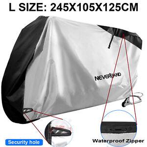 XL Waterproof Bike Motorcycle Cover Rain Dust Protector Oxford Scooter W// Zipper