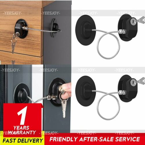 Drawer Fridge Lock Safety Cabinet Proof Cupboard Door Ace for Baby Child 2Pcs
