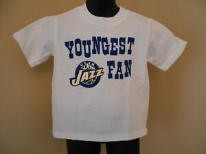 New Utah Jazz Youngest Fan Toddler 3T Adidas White Shirt Sports Mem, Cards & Fan Shop