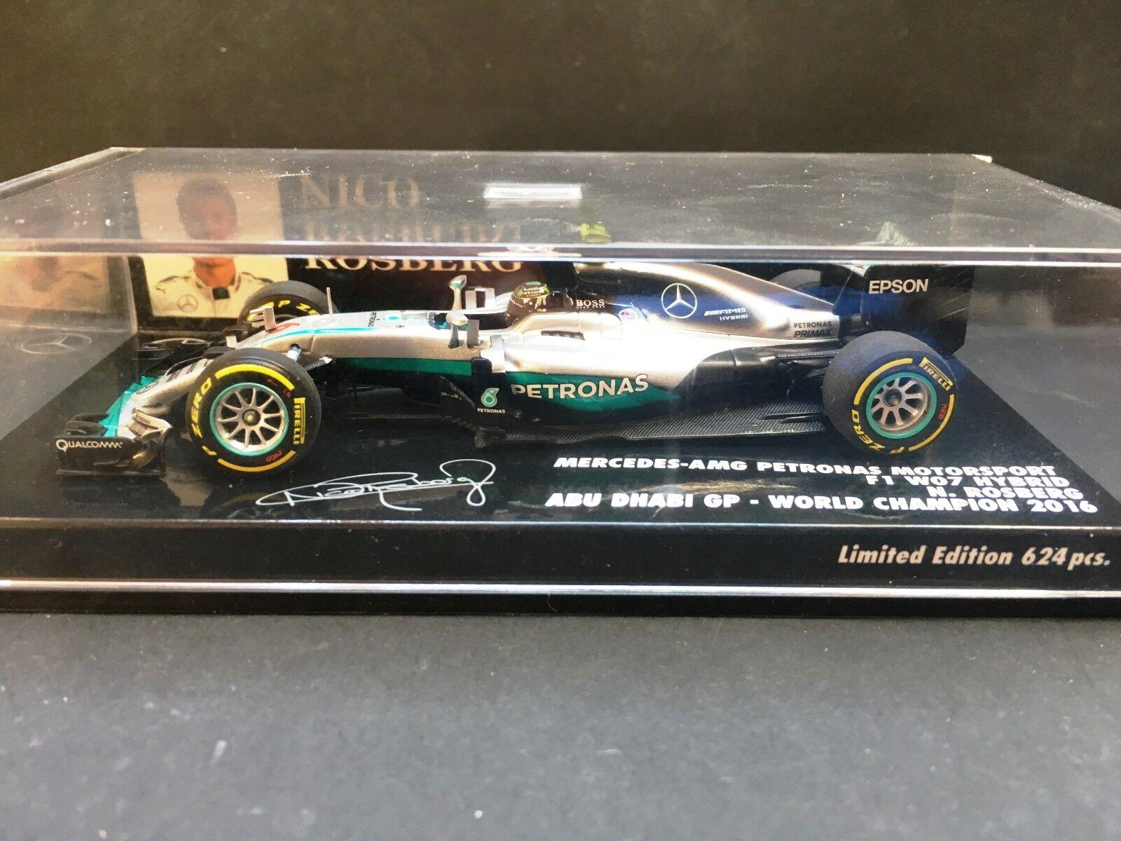Minichamps - Nico Rosberg - Mercedes Petronas - W07 - 1 43 - Abu Dhabi - 2016