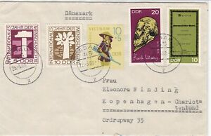 german democratic republic 1968 stamps cover ref 19213