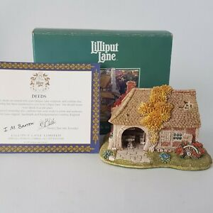 Vintage-Lilliput-Lane-Cottages-Little-Smithy-796-in-Box-with-Deeds-CoA-1995-A10