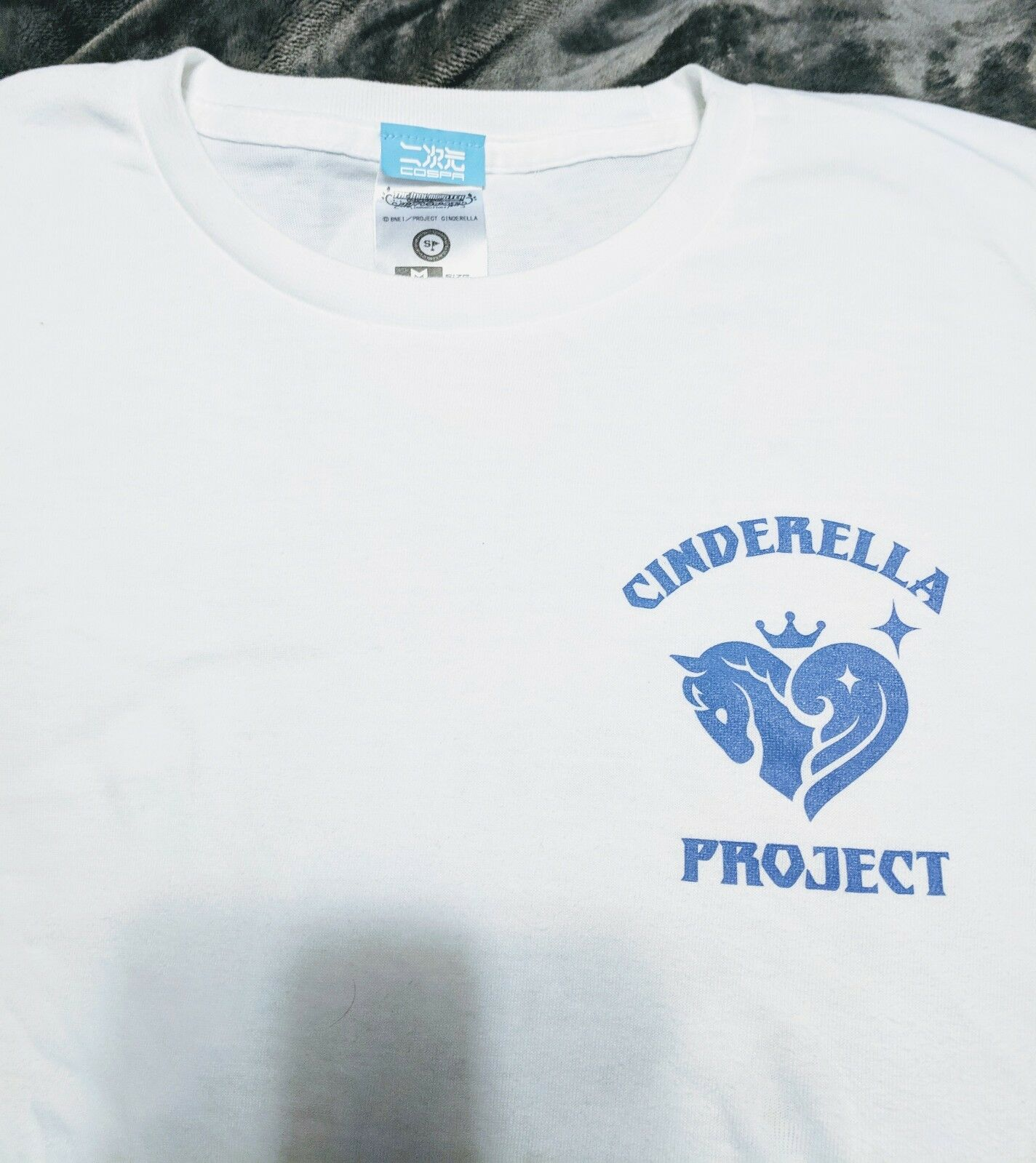 THE IDOLM@STER Cinderella Girls Project White Shirt - Japanese M - BARELY USED