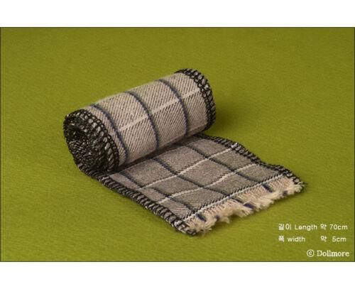 Check Woollen Muffler F - Cocoa Dollmore BJD 70cm long scarf Model /& MSD