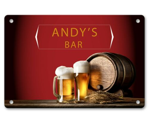 Details about  /Personalised Bar Sign Any Name Garden Plaque Gift Bar Pub Backyard Bar Sign 25