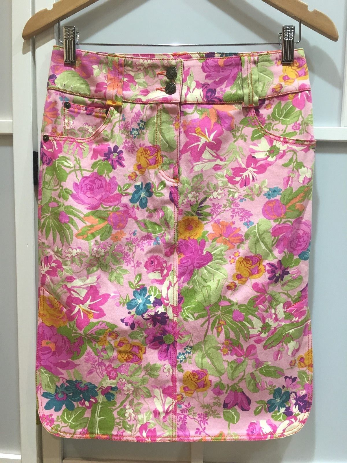 100% authentic vintage Etro floral pattern skirt