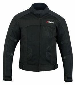 sommer motorradjacke airmesh motorrad jacke schwarz gr e s bis 5xl ebay. Black Bedroom Furniture Sets. Home Design Ideas