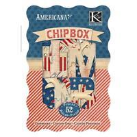 K&Company Americana Alphabet Chipbox Craft Supplies