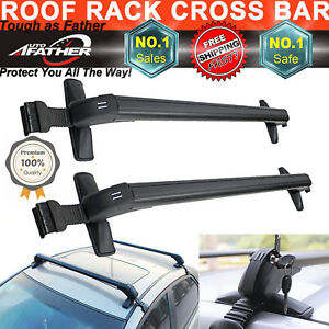 Image Is Loading Universal Aluminum Car Top Roof Cross Bars Luggage