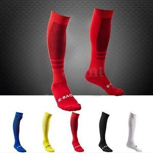 Men-039-s-Sport-Baseball-Football-Soccer-Plain-Long-Socks-Over-Knee-High-Sock-Hockey