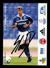 Sladan Peric Autogrammkarte FC Schalke 04 2000-01 Original Signiert + A 62537