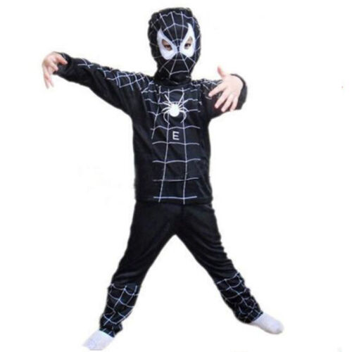Toddler Kids Spiderman Boys Fancy Dress Up Cosplay Costume Outfits Set