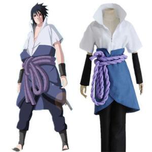 Image is loading Naruto-Uchiha-Sasuke-3th-Cosplay-Costume-Halloween-Anime-  sc 1 st  eBay & Naruto Uchiha Sasuke 3th Cosplay Costume Halloween Anime S-2XL US ...