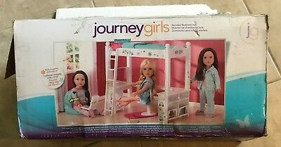 Journey Girls Wooden Bedroom Furniture Loft Bed Desk Set Toysrus Exclusive Ebay
