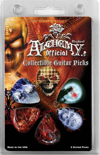 "ALCHEMY GOTHIC COLLECTIBLE GUITAR PICKS /""Pentagram/"" by HotPicksUSA 1 per order"