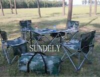 Portable Folding Chair Stools Set Camping Picnic Table Party Outdoor Garden BBQ