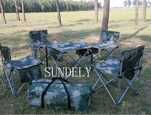 portable folding chair stools set camping picnic table