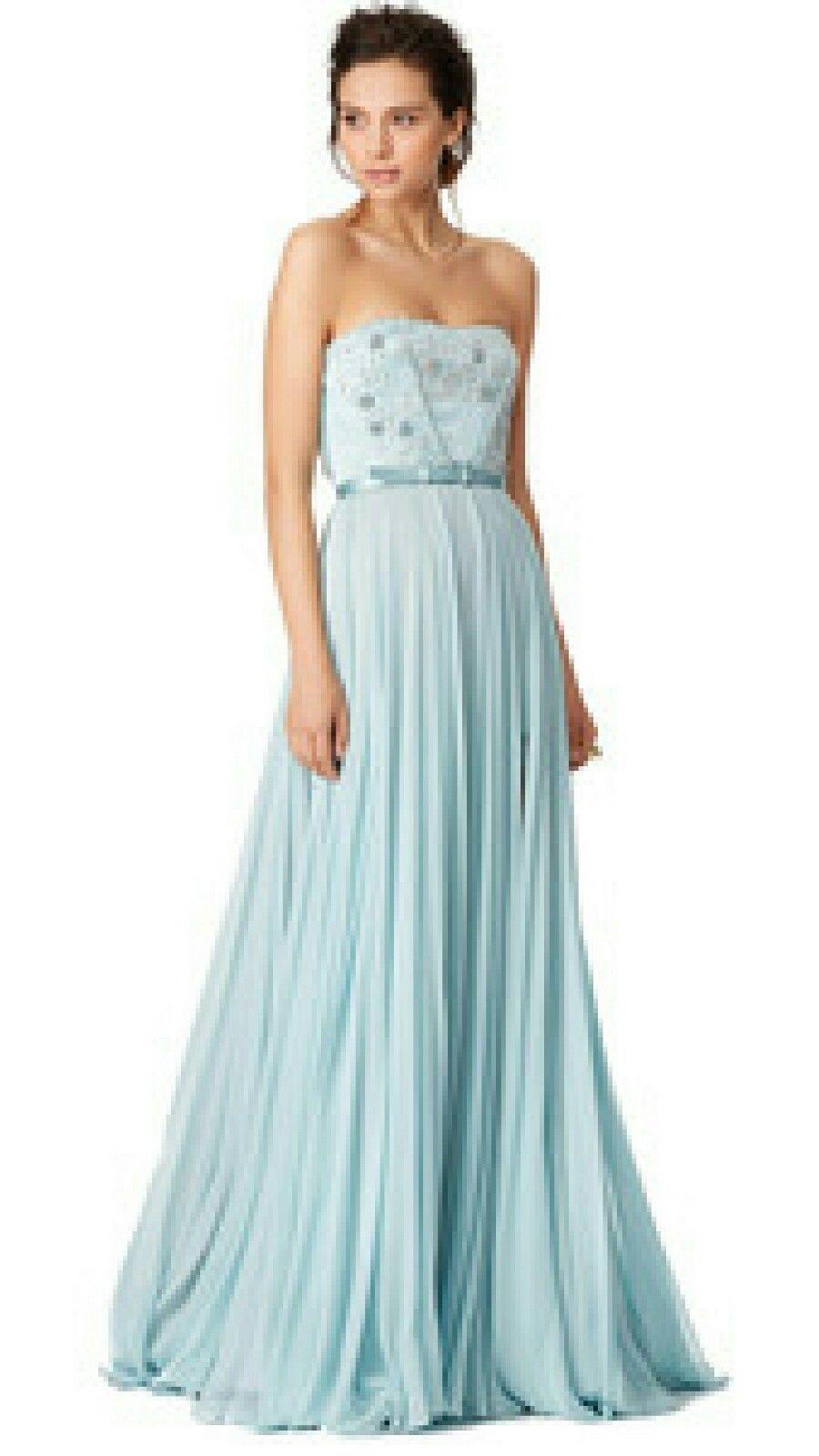 K NEW REEM ACRA NEW YORK STUNNING AQUA blueE SILK EXCL BEAD RUNWAY DRESS GOWN 8