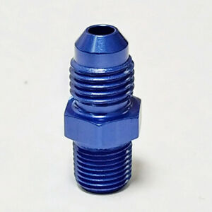 4-AN-X-1-8-034-Male-NPT-Straight-Fitting-Adapter-Fragola-481604-Blue-Aluminum