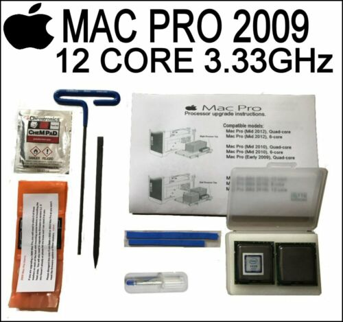 Matched Pair 6 Core X5680 3.33GHz XEON CPUs 2009 Apple Mac Pro 5,1 4,1 Upgrade