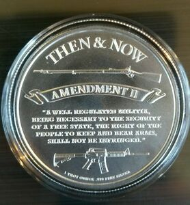 Punisher 2nd Amendment 1 Oz 999 Silver Guns Ar15 3