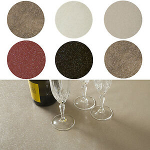 Image Is Loading Glitter Glittery Sparkle Round PVC WIPE CLEAN OILCLOTH