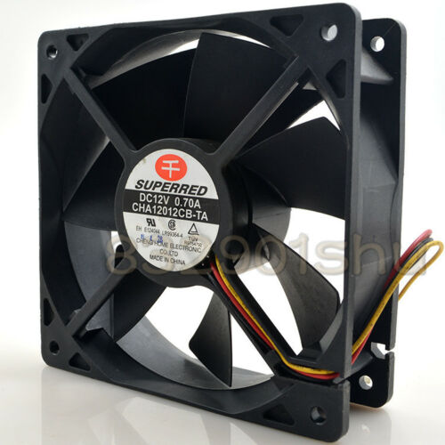 Replace for SUPERRED CHA12012CB-TA Fan 12V 0.70A 120*120*38mm 3pin free ship #u8