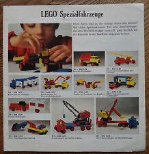 Lego Prospekt Spezialfahrzeuge Wunschzettel only Instruction keine Steine