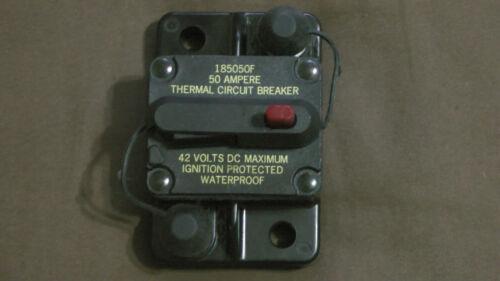 1x Bussmann Thermal Circuit Breaker CB18550 CB185-50 50 AMP 12v 24v 32 up to 42v
