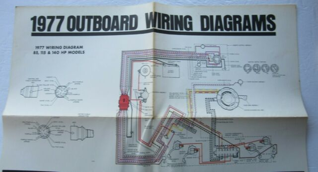 Johnson Outboard 1977 Wiring Diagram For Models 85 115 149