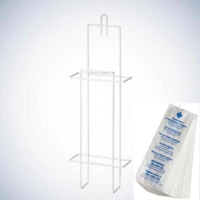 Hygienebeutel Halterung mit 200 Hygienetüten Hygienebeutelspender