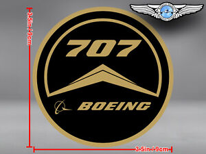 OLD-VINTAGE-STYLE-ROUND-BOEING-B-707-B707-LOGO-DECAL-STICKER