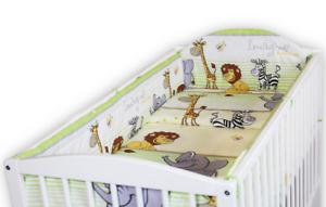BABY-6PC-BEDDING-SET-PILLOW-DUVET-ALLROUND-FIT-COT-120x60-Safari-Green
