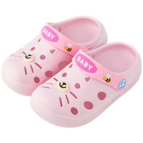 Toddler Infant Kids Girl Boys Home Slippers Cartoon Cat Floor Shoes Sandals DZ