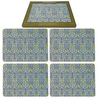 Set of 4 William Morris Anthina Placemats Dining Table Mats Luxury Floral Gift