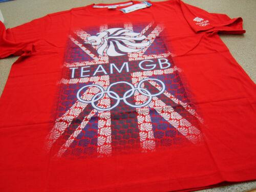 Official Olympics London 2012 Team GB Union Jack Lion Cotton Men/'s T-Shirt