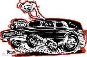 Hot-Rod-Hearse-Sticker-Decal-Kruse-RK32-Roth-Like