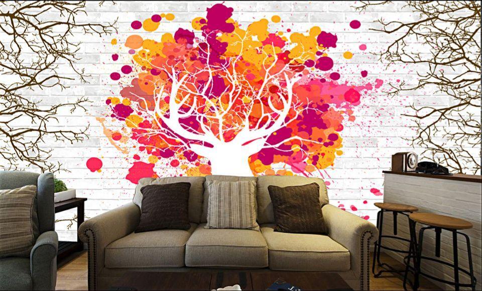 3D Helle rede Baum 1366 Fototapeten Wandbild Fototapete BildTapete Familie DE