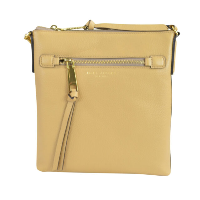 42360cc595e8 NWT Marc Jacobs Recruit North South Leather Crossbody Bag Beige