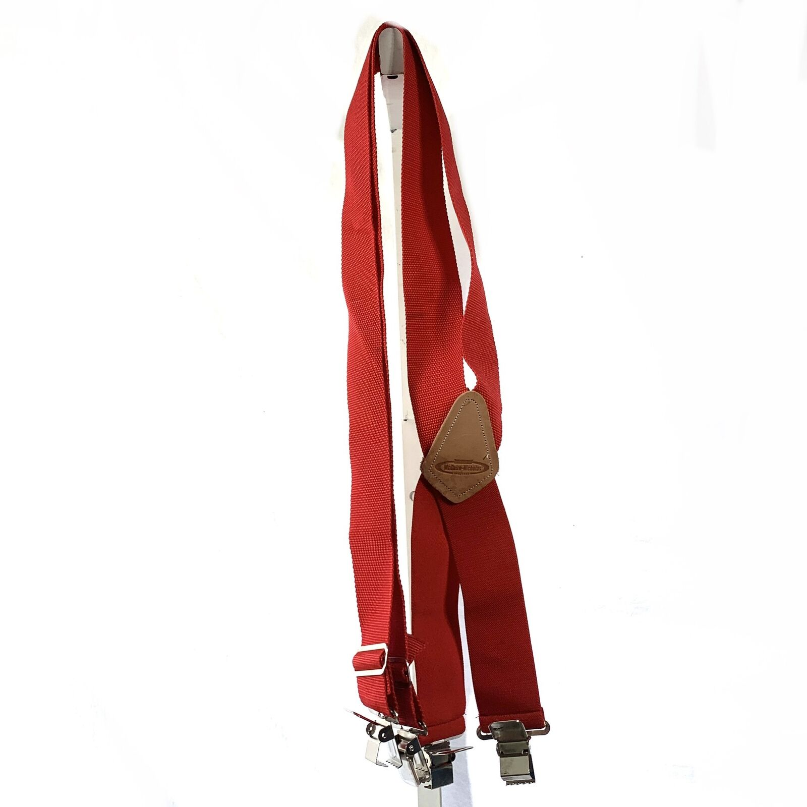 """Dickies Red Suspenders Nylon Adjustable size 1.5"""" wide Non-Stretch"""