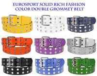 Hot Trend Eurosport Solid Rich Fashion Color Double Grommet Belt - Bw9915