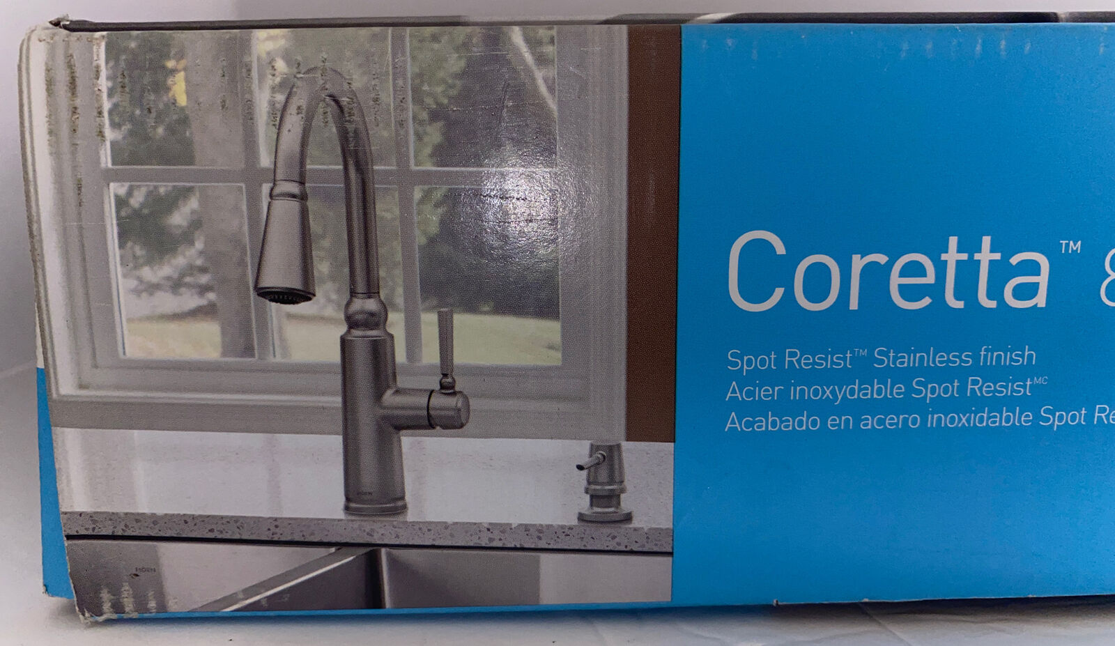 Moen Coretta Pull-Down Sprayer Kitchen Faucet in Spot Resist Stainless