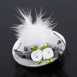 Women-Bow-Feather-Net-Veil-Wedding-Girls-Hat-Clip-Hair-Accessories-Decor-WL