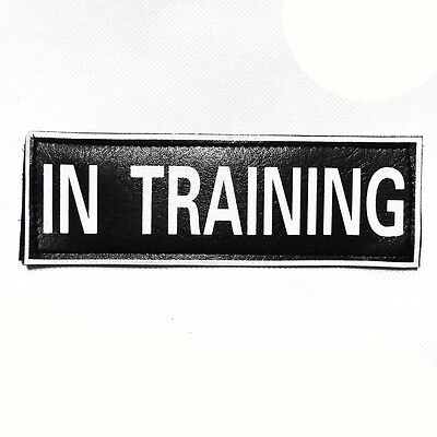 Velcro Patches Reflective Dog Harness SERVICE DOG THERAPY POLICE TRAINING SEARCH