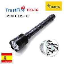LINTERNA LED TRUSTFIRE TR-3T6 3*CREE XM-L T6 3800LM 18650 LITIO Li-ion