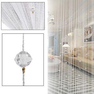 Modern String Door Curtain Shiny Bead Room Divider Window Tassel